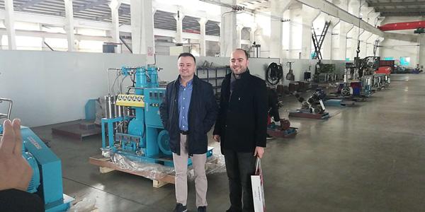 customer visit bailian compressor 1